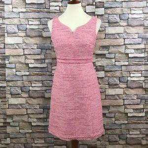 WHBM A Line Dress Pink Slub Sleeveless Size 4